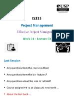 Lecture 03 - Effective Project Management