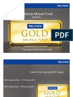 Reliance- Gold Saving Fund Presentation