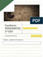 Cuaderno REPASO PENDIENTE 3ESO