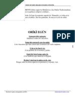 El Ciclo Diario de Cuatro días para Consultar a Orunmila
