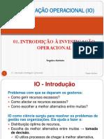 01 IO - Introdução à Investigação Operacional USTM