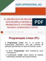 02 IO - Formulação de Problemas e Construção do Modelo de PL USTM