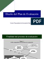 DISEÑO DE PLAN DE EVALUACION