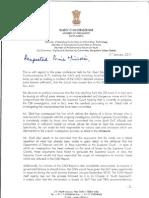 Rajya Sabha MP Rajeev Chandrasekhar's Letter to the PM