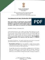 Rajya Sabha MP Rajeev Chandrasekhar's Response to Ratan Tata's Letter