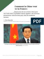 Hu Jintao_ «Comment la Chine veut coopérer avec la France»