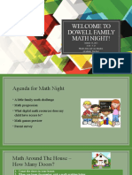 dowell family math night
