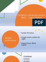 BNCC – Língua Inglesa