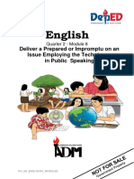 ENGLISH10_Q2_MODULE8_DELIVER A PREPARED OR IMPROMPTU ON AN ISSUE EMPLOYING THE TECHNIQUES IN PUBLIC  SPEAKING_v2