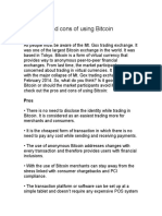 The pros and cons of using Bitcoin