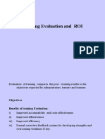 Training Evaluation & ROI