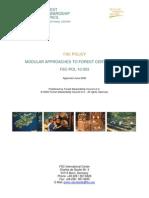 FSC POL 10 003 en Modular Approaches to Forest Certification 2005