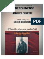 BUNDE TOLIMENSE. Alberto Castilla. Transc. piano Gerardo Betancourt.