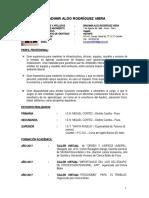 Curriculum BRADIMIR RODRÍGUEZ