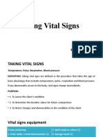 Taking Vital Signs of a Patient