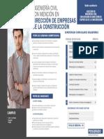 Maestria Ingenieria Civil Con Mencion en Direccion de Empresas de La Construccion