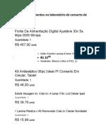 Lista de equipamentos no laboratório de celulares pdf
