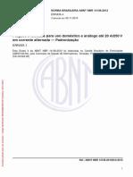 NBR 14136 (2002) - Plugues e Tomadas Para Uso Doméstico e Análogo Até 20 a-250 v Em Corrente Alternada (Padronização) (ERRATA 4 de 05.11.2013)