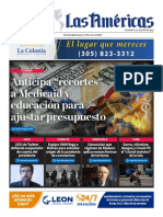 Portada digital de Diario Las Américas 14 enero de 2021