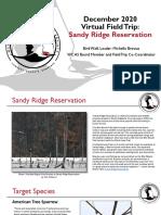 WCAS Virtual Field Trip to Sandy Ridge Reservation December 2020