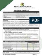 Programa Analítico Hidrología - Agosto 2018