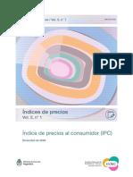 Indice de precios al consumidor (IPC). Diciembre de 2020