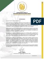 Comunicado Gobierno Legítimo sobre vacunas COVID-19