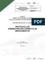 PROTOCOLO DE ADMINISTRACION CORRECTA DE MEDICAMENTOS