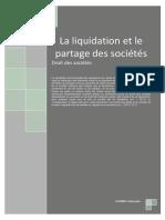 Liquidation Et Partage Des Sociétés