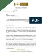 Carta presidente Duque