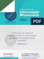APMT e IPB - Roteiro de Intercessão Missionária