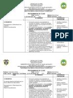 PROGRAMADOR DE CLASE MATEMATICAS GRADO TERCERO