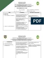 PROGRAMADOR DE CLASE GEOMETRIA Y ESTADISTICA GRADO TERCERO