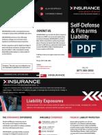 XINSURANCE Self Defense Firearms Brochure Updated October 2020