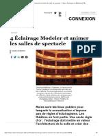 4 Éclairage Modeler et animer les salles de spectacle - Cahiers Techniques du Bâtiment (CTB)