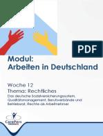 Woche 12 Arbeiten in Deutschland