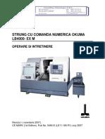 OKUMA LB4000 EX-M - Manual de Operare