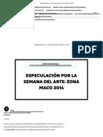 Viviana Martínez. Especulación por la semana del arte_ Zona MACO 2014 _ Indie Rocks