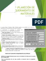 MRP (PLANECIÓN DE REQUERIMIENTO DE MATERIALES