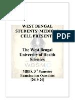 MBBS Pathology 3ed semester questions 2019-20