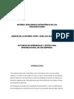 ACTIVIDAD DE APRENDIZAJE 2. ESTRUCTURA ORGANIZACIONAL DE UNA EMPRESA.