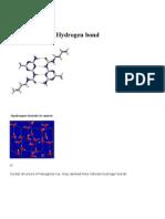 An example of intermolecular hydrogen bonding in a self