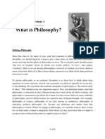 3. Lecture 1 What is Philosophy