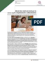 Pubblicati due studi sul rapporto tra alimentazione e inquinamento - Pesarourbinonotizie.it, 14 gennaio 2021