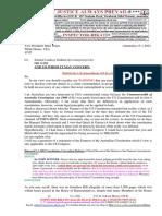 20210115-Mr G. H. Schorel-Hlavka O.W.B. to Vice President Mike Pence-WARNING