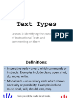 L1 - conventions of Instructional  Texts