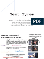 L2 - language and structure in  Instructional Texts