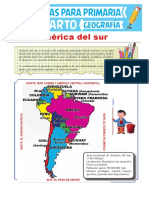 América Del Sur Para Cuarto Grado de Primaria