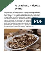 Radicchio gratinato – ricetta semplicissima