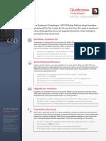 Snapdragon 480 5g Mobile Platform Product Brief